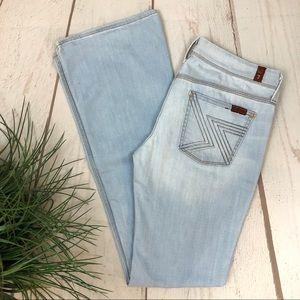 7 For All Mankind Light Wash Flynt Dojo Jeans